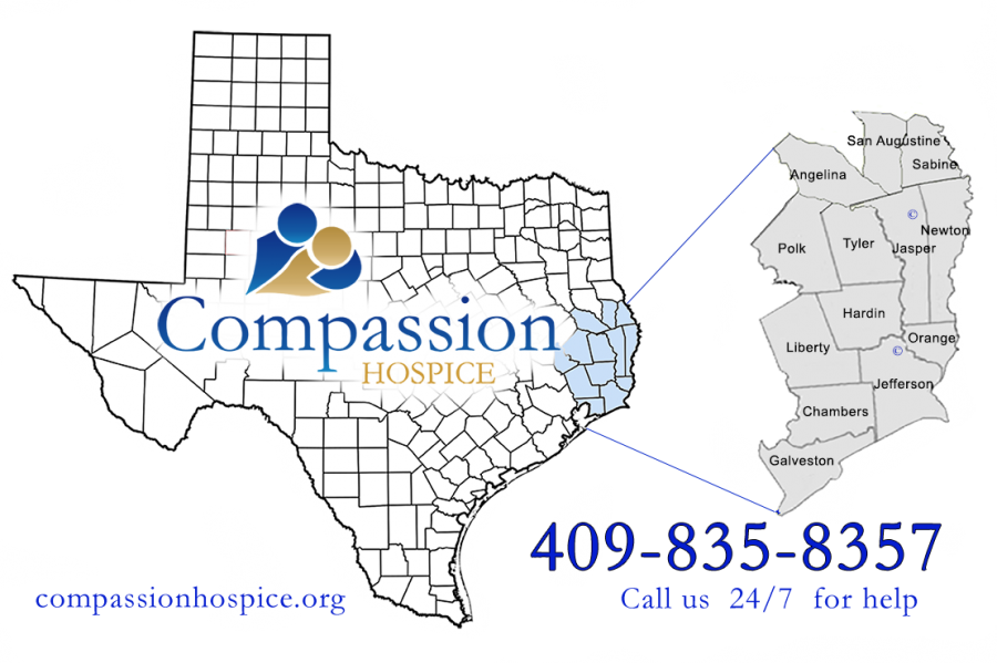 Compassion Hospice Service Area by Texas counties